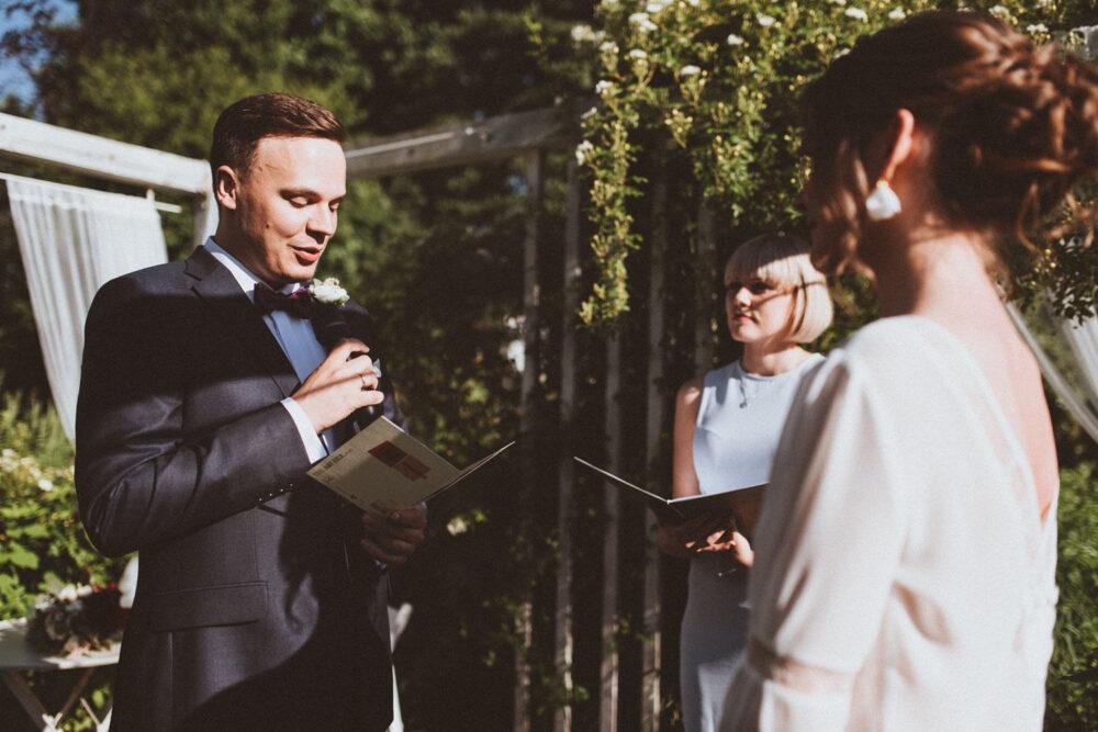 Ślub humanistyczny - przysięga